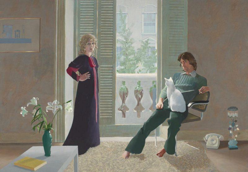 Дэвид Хокни «Мистер и миссис Кларк и Перси», 1971 год