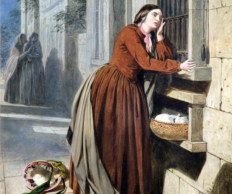 Генри Нельсон О'Нил «Мать, отдающая своего ребенка в Воспитательный дом в Париже», фрагмент
