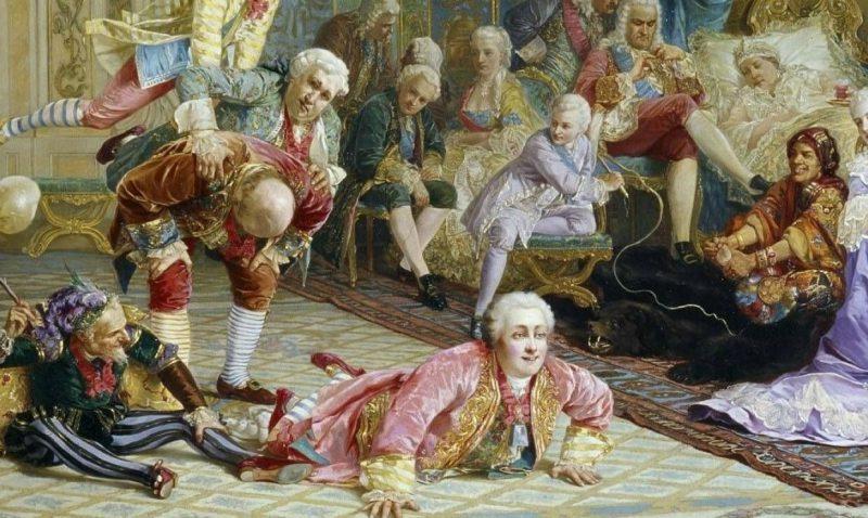 Валерий Якоби «Шуты при дворе императрицы Анны Иоанновны», фрагмент
