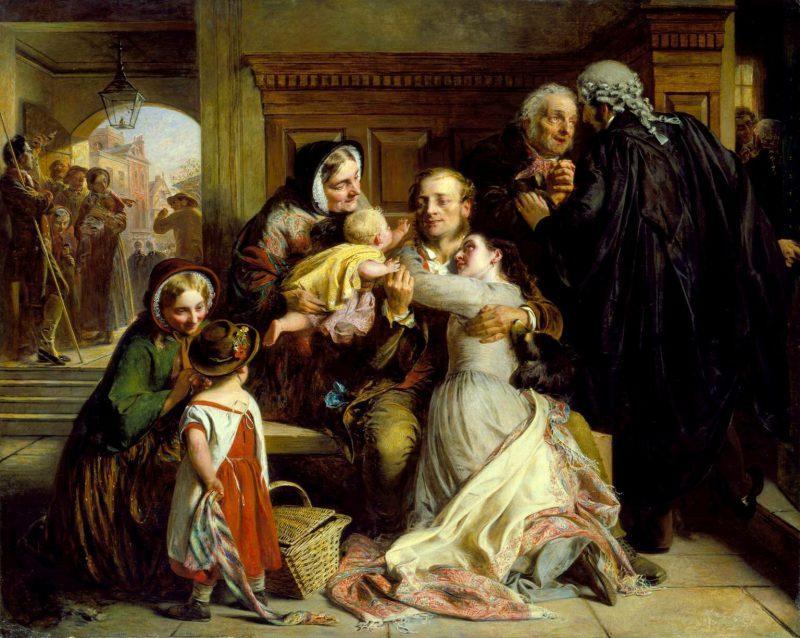 Авраам Соломон «Не виновен (Оправданный)», 1857 год