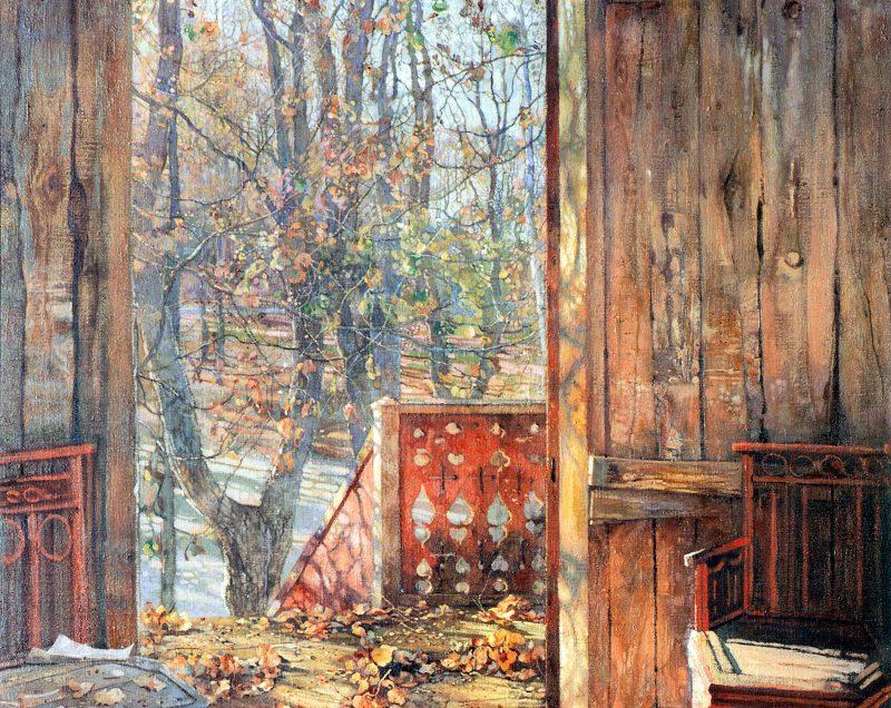 Исаак Бродский «Опавшие листья», фрагмент
