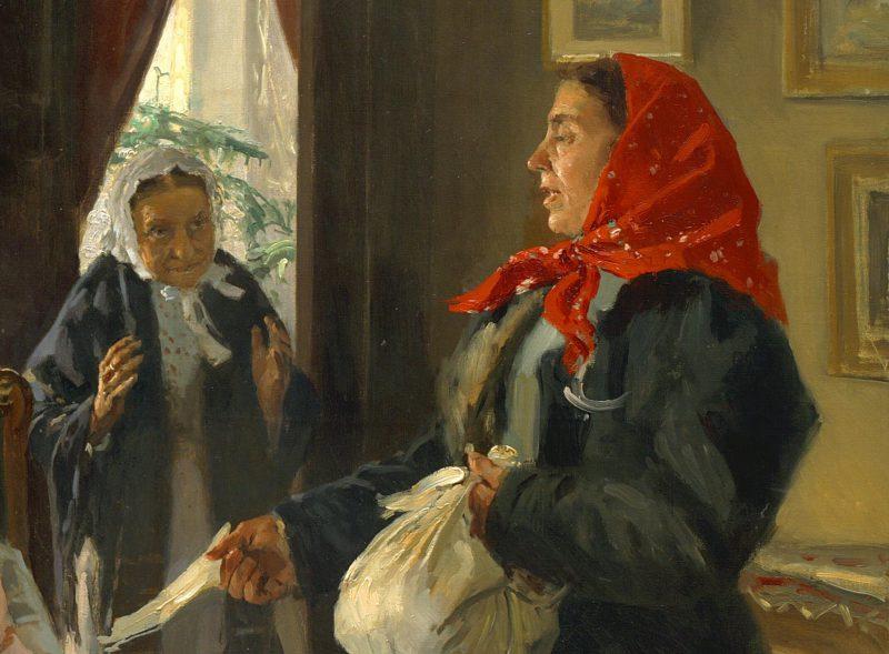 Владимир Маковский «Две матери. Мать приемная и родная», фрагмент
