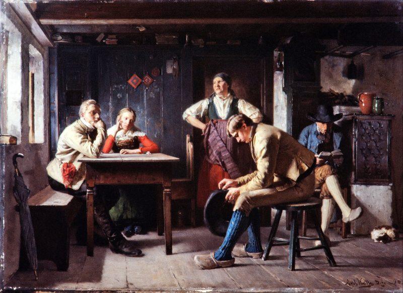 Аксель Хенрик Кулле «Предложение (Соперники)», 1880 год