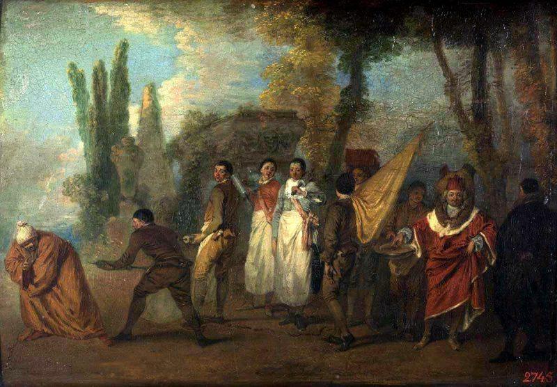 Антуан Ватто «Сатира на врачей (Что я вам сделал, проклятые убийцы?)», 1712-1714 гг