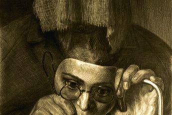 Геннадий Добров «Портрет женщины с сожженным лицом»