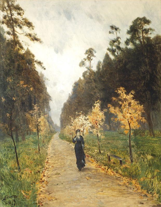 Исаак Левитан «Осенний день. Сокольники», 1879 год