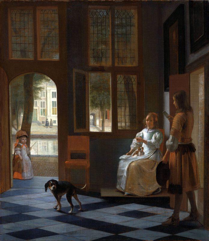 Питер де Хох «Посыльный с письмом», 1670 год