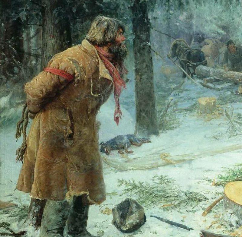 Василий Максимов «Лесной сторож», фрагмент