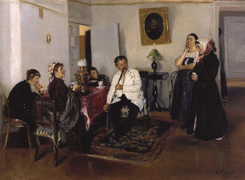 Владимир Маковский «Наём прислуги», 1891 год