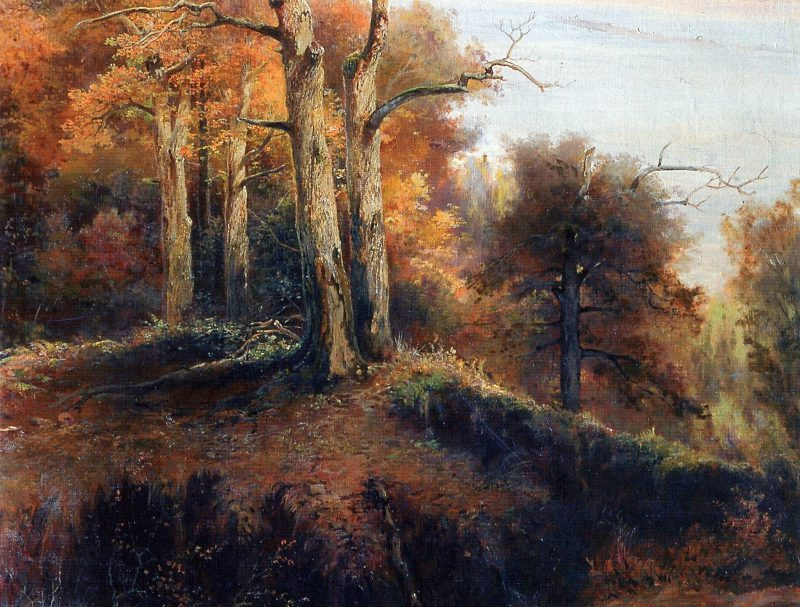 Алексей Саврасов «Осенний лес. Кунцево. Проклятое место», фрагмент