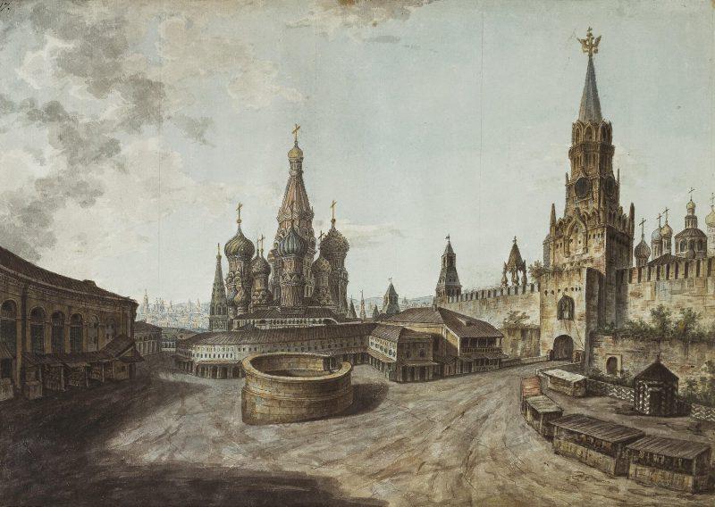 Федор Алексеев «Красная площадь в Москве», 1800 год