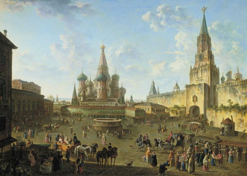 Федор Алексеев «Красная площадь в Москве», 1801 год