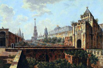 Федор Алексеев «Никольская башня и Алевизов ров», 1800 год