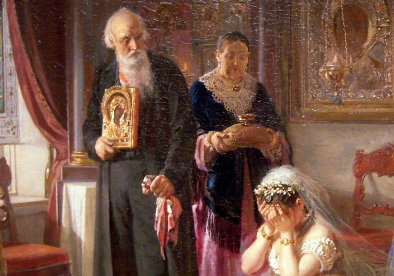 Фирс Журавлев «Перед венцом», фрагмент