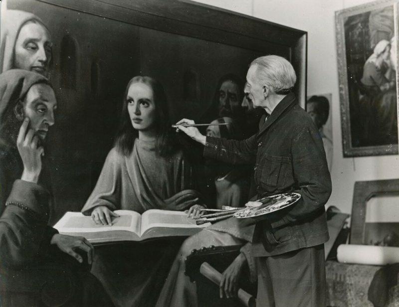 Ван Мегерен пишет картину «Иисус среди книжников»
