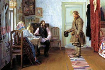 Иван Богданов «За расчетом», 1890 год