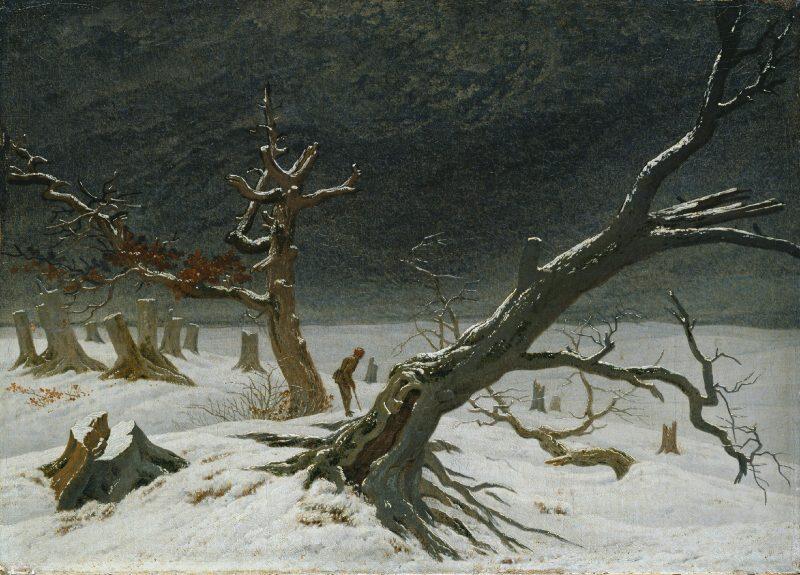 Каспар Давид Фридрих «Зимний пейзаж», 1811 год