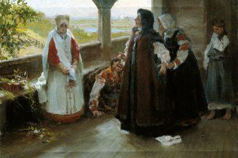 Клавдий Васильевич Лебедев «Ссора на террасе»