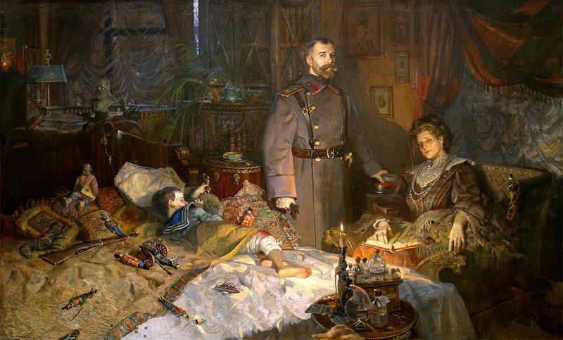 Павел Рыженко, триптих «Царская голгофа», 2004 год «Александровский дворец. Заточение»