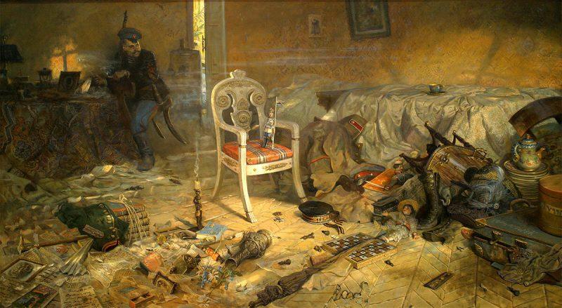 Павел Рыженко, триптих «Царская голгофа», 2004 год «Ипатьевский дом. Расстрел»