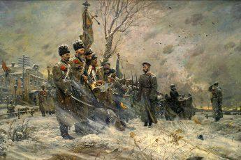 Павел Рыженко, триптих «Царская голгофа», 2004 год «Прощание с конвоем»