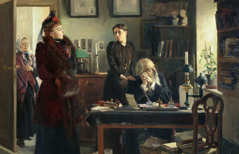 Владимир Маковский «Две сестры», фрагмент