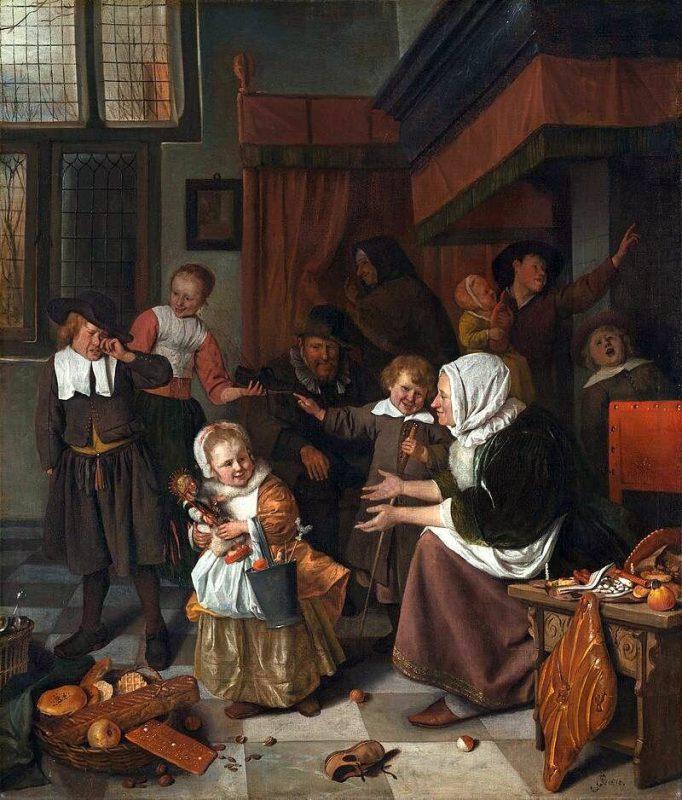 Ян Стен «Праздник святого Николая», ок. 1665/1668 г.