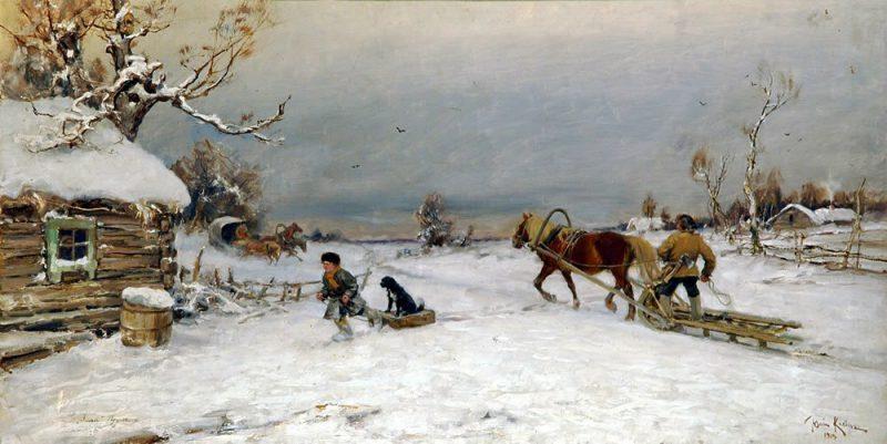 Юлий Клевер «Зима!.. Крестьянин, торжествуя...», 1919 год