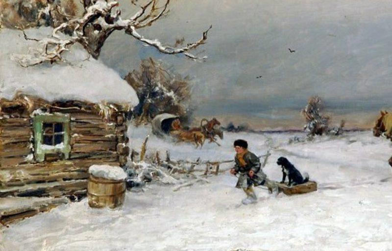 Юлий Клевер «Зима!.. Крестьянин, торжествуя...», фрагмент