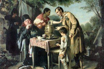 Василий Перов «Чаепитие в Мытищах близ Москвы», 1862 год