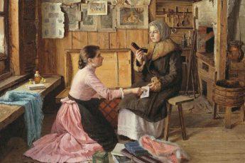 Исаак Батюков «Разговор у сундука», 1893 год