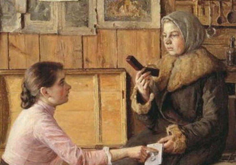 Исаак Батюков «Разговор у сундука», фрагмент
