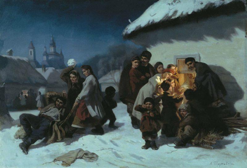 Константин Трутовский «Колядки в Малороссии», 1864 год
