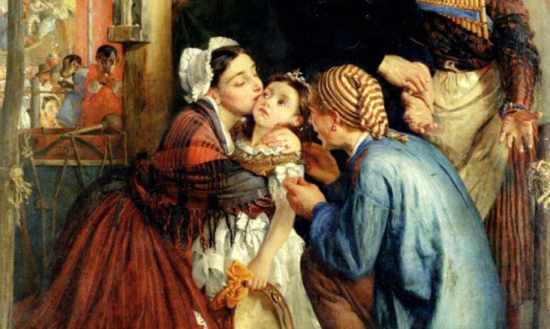 Philip Hermogenes Calderon French Peasants Finding their Stolen Child 1859 г