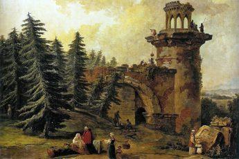 Юбер Робер «Башня-руина в Царском Селе», 1783 год