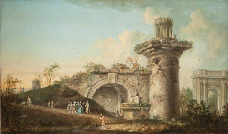 Иван Бельский , «Гатчинские ворота и Руина в Царском Селе», 1788 год