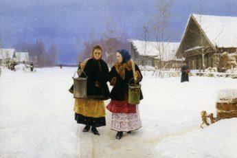 Николай Касаткин «Соперницы», 1890 год
