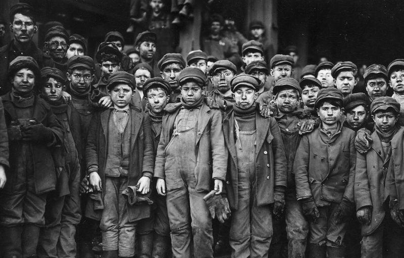 Дети из работного дома в Англии, 19 век