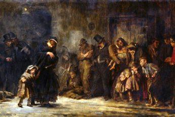 Сэмуэль Люк Филдс «Поступающие в дом временного пребывания», 1874 год