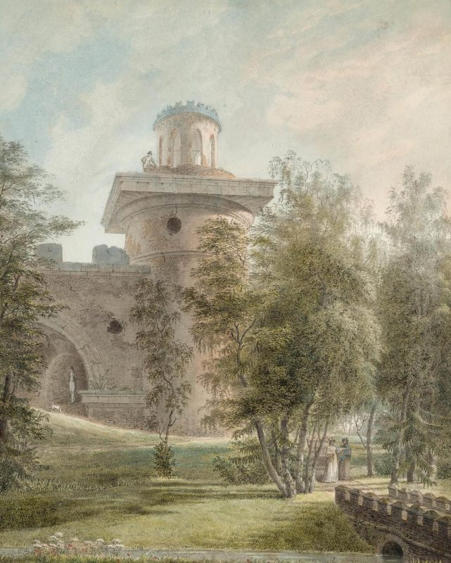 Иванов Иван Алексеевич Башня-руина в Царском Селе