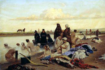 Лев Соловьёв «Монахи. Не туда заехали», 1870 год