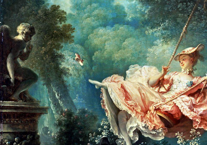 Жан Оноре Фрагонар «Качели», фрагмент