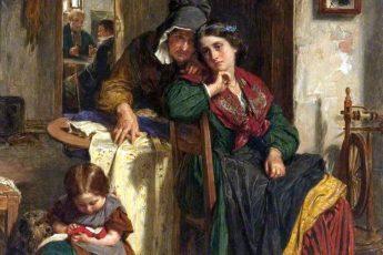 Томас Фаед «Шёлковое платье», 1862 год
