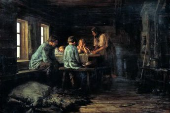Максимов Василий Максимович «Бедный ужин», 1879 год