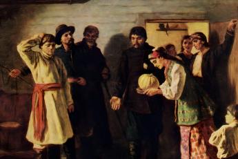 Константин Трутовский «Отказ жениху», фрагмент