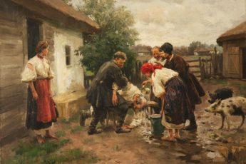 Николай Пимоненко «Надзюзюкався», 1909 год