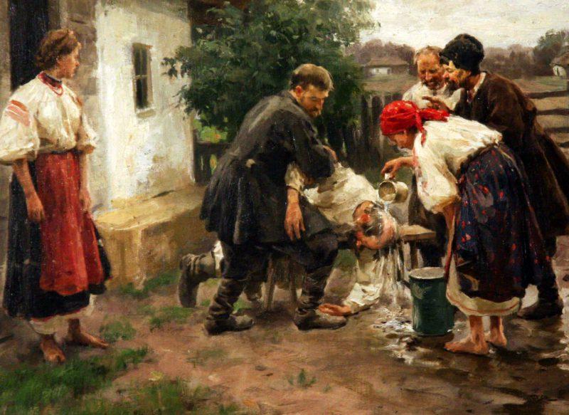 Николай Пимоненко «Надзюзюкався», фрагмент