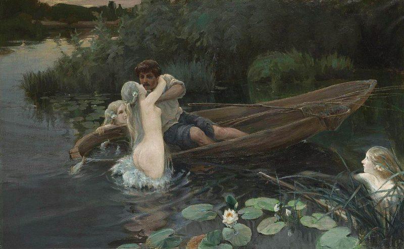 Иван Дженеев «Водные глубины. Омут», 1907 год