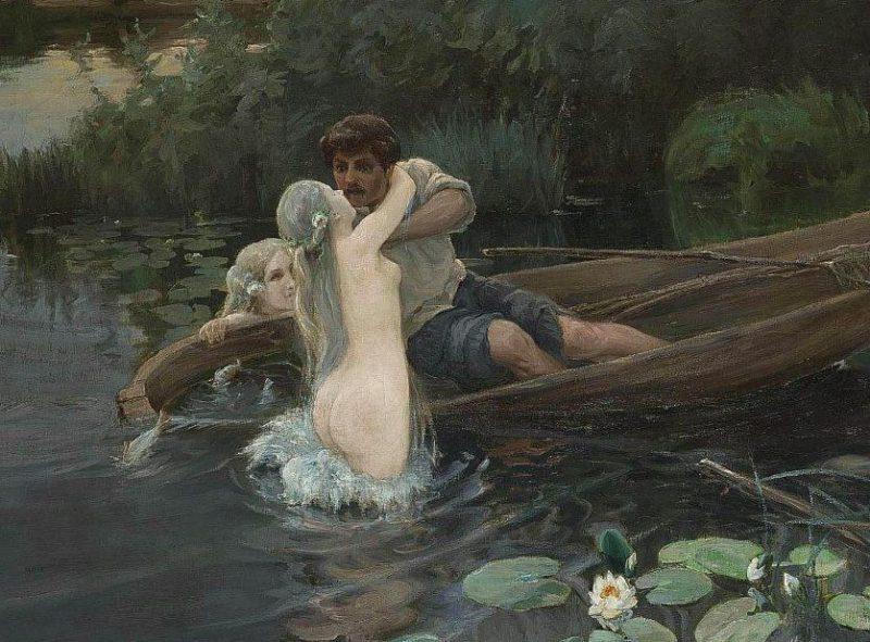 Иван Дженеев «Водные глубины. Омут», фрагмент