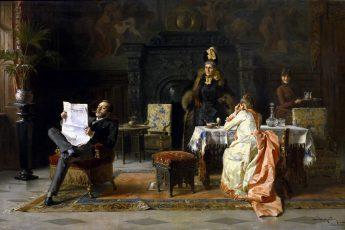 Маргитай Тихамер «Сюрприз для папы», 1889 год